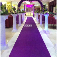 Nonwoven Powder Coating Pearl Powder Wedding Runner Pearlescent Carpet T Stage Shiny Carpet Party Celebration Decoration Carpet