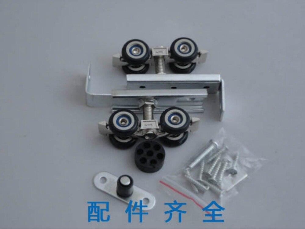 Poulie de portes coulissantes de matériel, roue de rail accrochante de portes coulissantes, petite taille, 5 ensembles/, pour un rail accrochant de porte/30*30