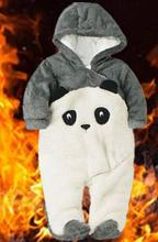 Высокого класса Новый 2016 горячей ребенка комбинезон осень зима новорожденных одежда мультфильм панда толстые хлопчатобумажные комбинезоны детские комбинезоны