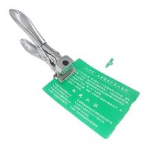 T חריץ צורת חותך פלסטיק מזהה אגרוף Plier חור מכתבים משרד PVC זהות אגרופן נייר לחתוך כרטיס קרטון תג תג כלי