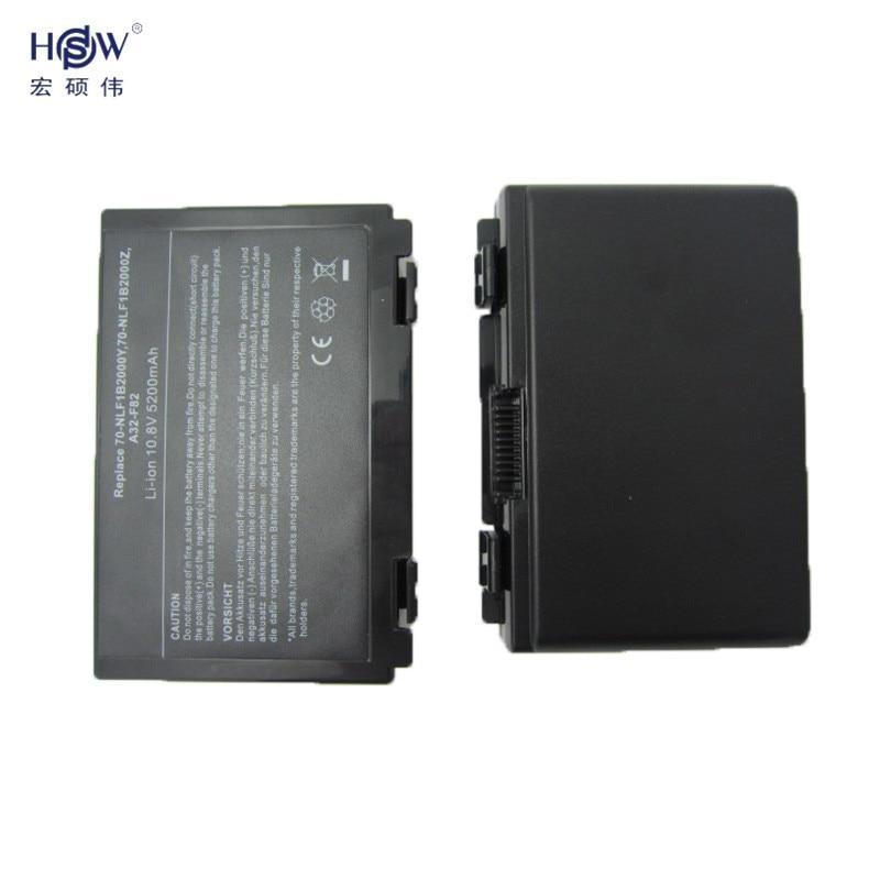 HSW sülearvuti aku Asus K50AB K70 A32-F52 jaoks F82 K50I K60IJ K61IC - Sülearvutite tarvikud - Foto 2