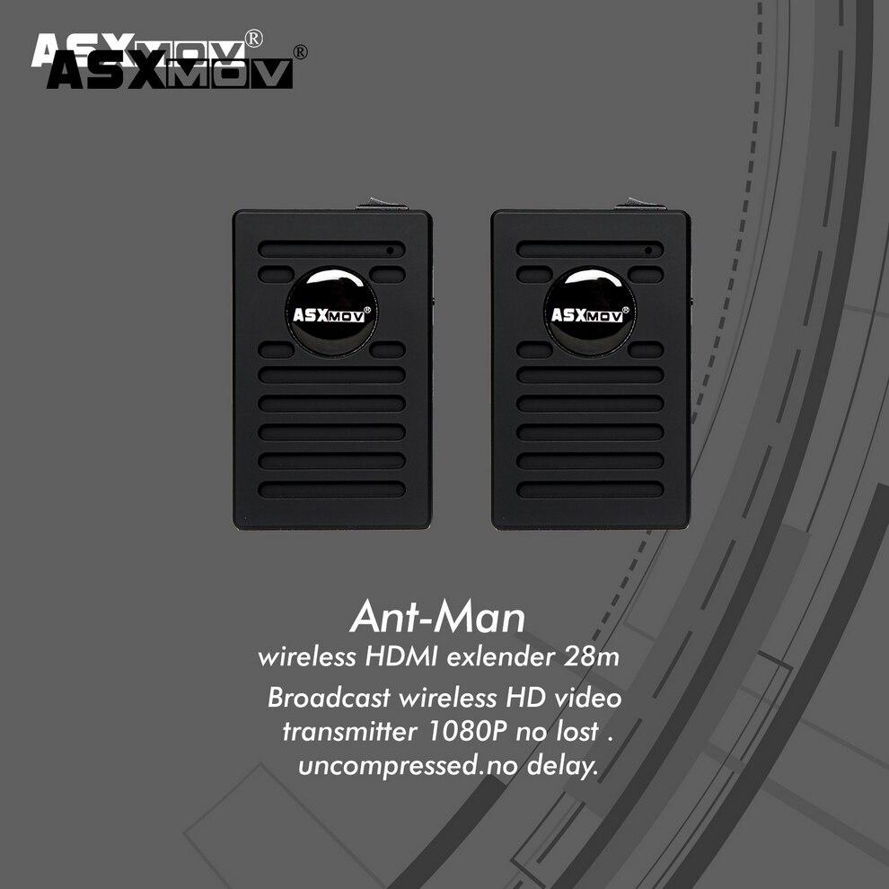 ASXMOV aucun retard 28 m HDMI Sans Fil émetteur vidéo et récepteur pour moniteur pour DSLR FILM 480I/480 p /720 p/1080i/1080 p