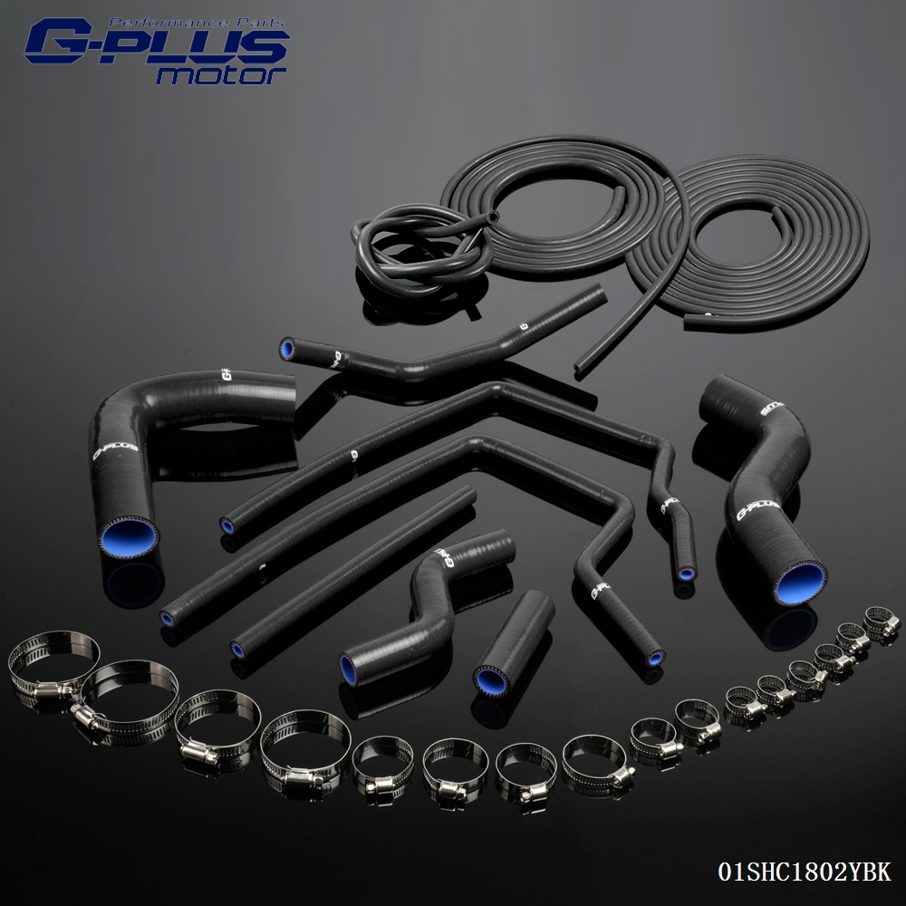 Gplus Silicone Hose+ Vacuum Hose Kit For Subaru Impreza GC8 GF8 STI EJ20 WRX TURBO turbo for subaru impreza wrx sti sedan wagon 2003 ej20 2 0l 280hp rhf55 vf37 vg440027 14411 aa541 14411 aa542 turbocharger