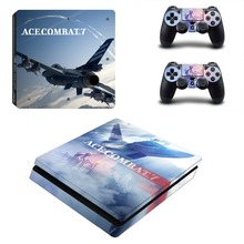 Ace Combat 7 Skies Unknown PS4 Slim Skin Sticker Vinyl For PlayStation 4 Console and Controllers PS4 Slim Skin Stickers Decal