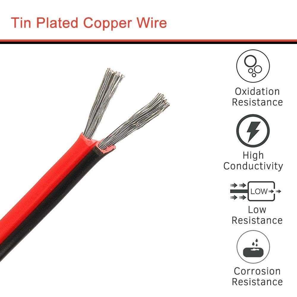 1 м 2 м 3 м 5 м 10 м 50 м 22AGW 2pin паяльная сварочная проволока черный красный соединительный кабель провод Соединительный шнур электрический соединительный кабель