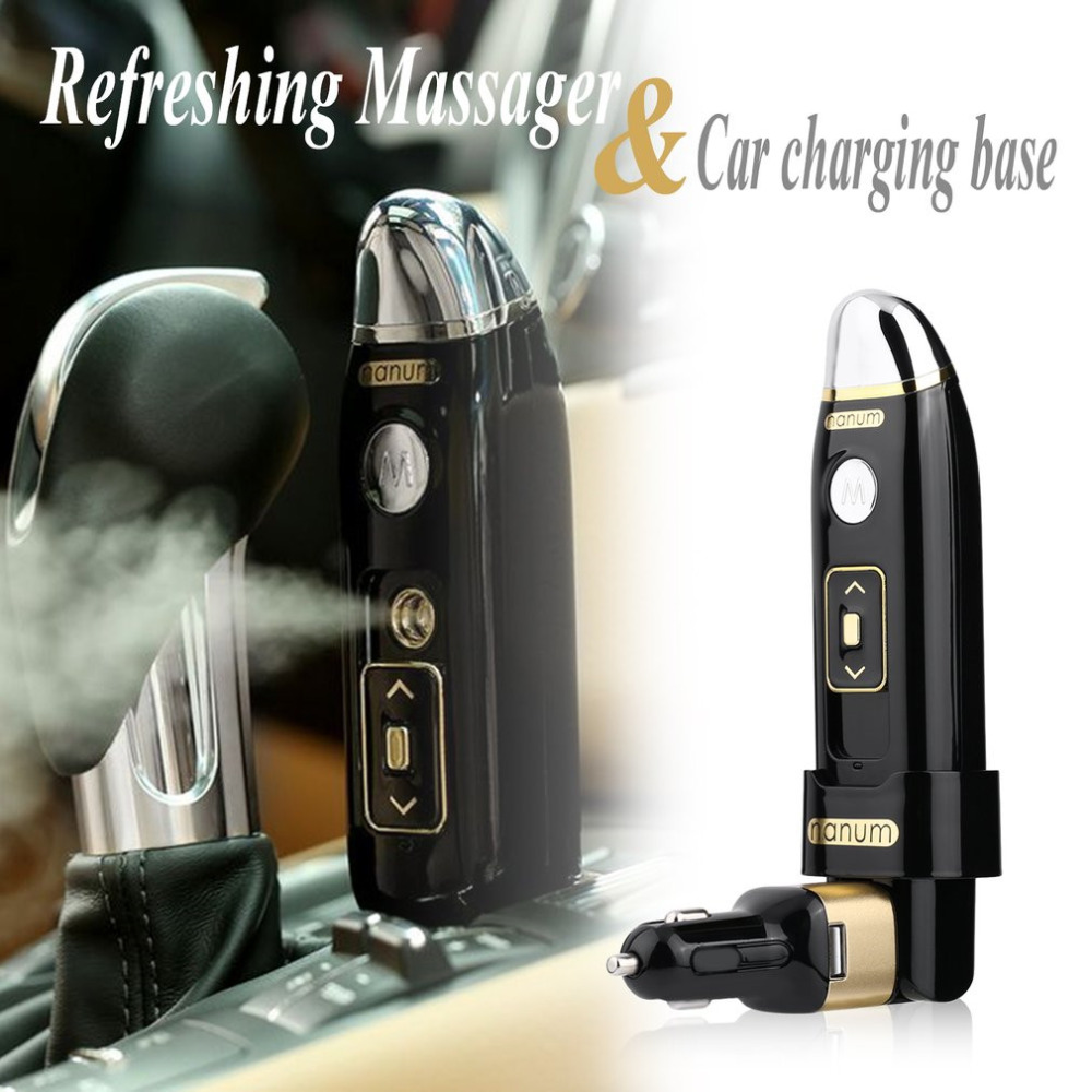 Multi-functional Car Humidifier Diffuser Vibrating Massager Car Air Humidifier Purifier Freshener with USB Car Charger car outlet perfume air freshener with thermometer lime