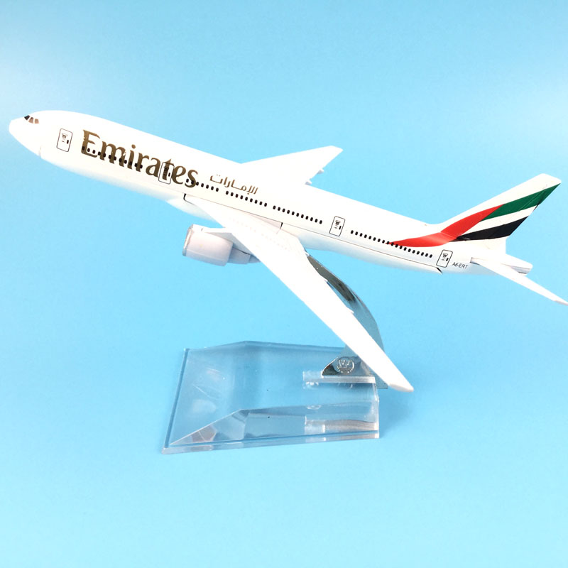 Air Emirates Monolayer Airlines Airplane Model Airbus 777 Airways 16cm Alloy Metal Plane ...