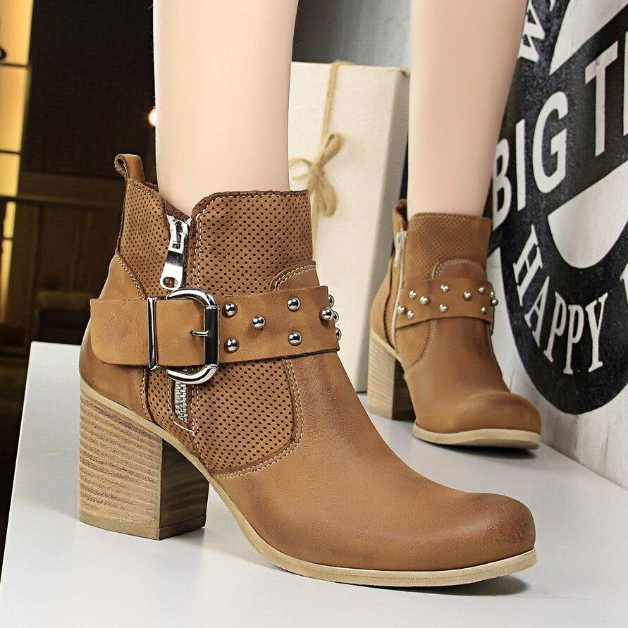 rétro cheville brown britannique talons chaussures black et boucle