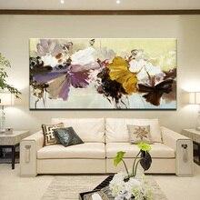 70x140 см-Современная Абстрактная Картина на холсте, настенный художественный плакат, ручная роспись, цветы, принты на холсте для гостиной, украшение дома