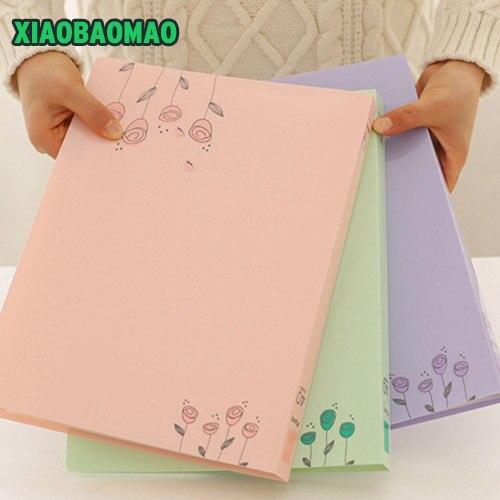 A4 Information Booklet 40 Pockets Multifunctional Folder Pocket File Folder Stationery Office & School Supplies