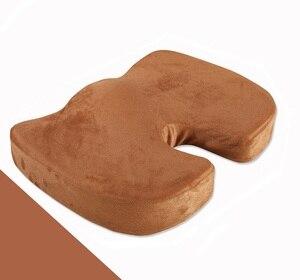 Image 2 - Sitz Kissen Kissen für Büro Stuhl 100% Speicher Schaum Lower Back Pain Relief Konturierte Haltung Corrector für Auto, rollstuhl