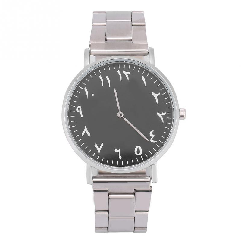 Unisex Watches Arabic Quartz Round-Lover Analog Display Alloy for Girlfriend Gift Numerals