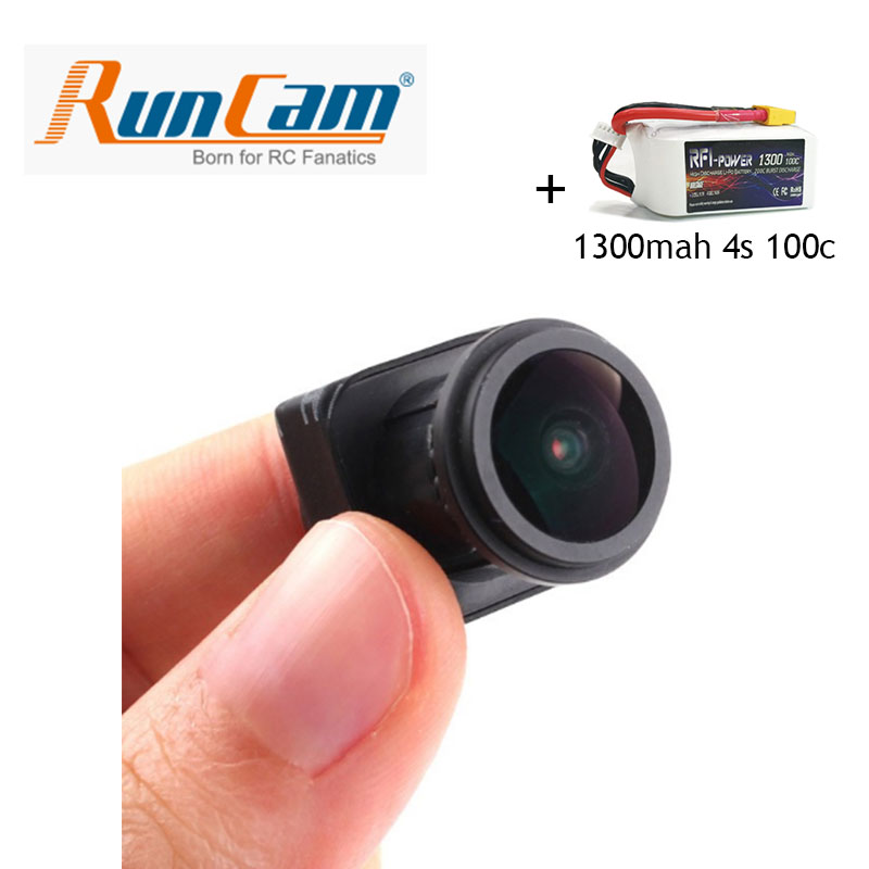 RunCam OWL Camera 1/2 700TVL Starlight 0.0001LUX  and RFI power 1300mAh 14.8V 100C(Max 200C) 4S Lipo Battery Pack free shipping runcam owl camera 1 2 700tvl starlight 0 0001lux fpv quadcopter mini camera night vision camera with cable