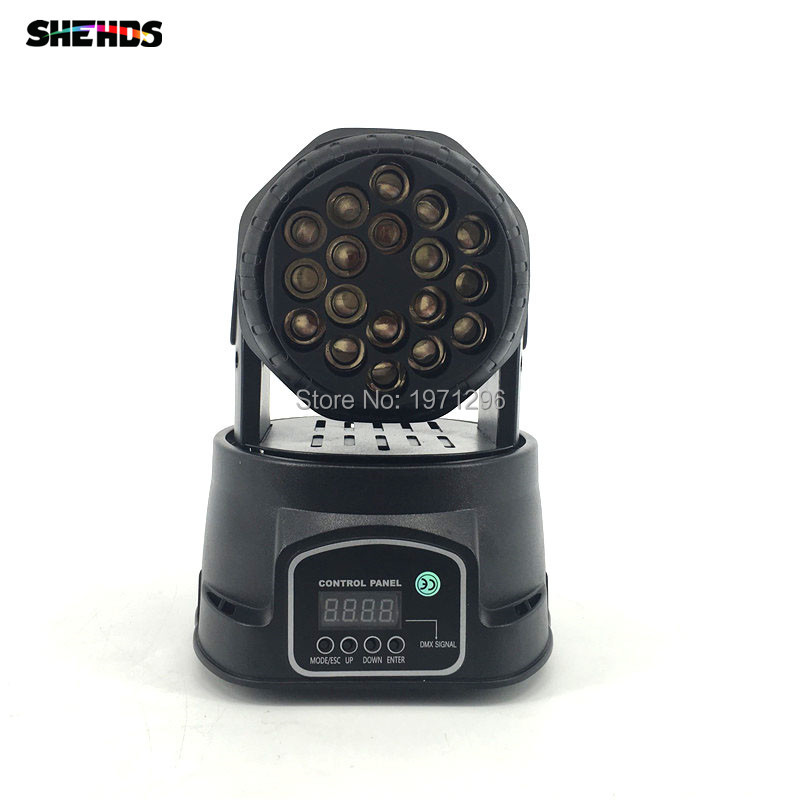 2017 HOT 18X3W Beam Moving Head Light RGBW LED Wash Moving Stage Lighting, Good for dj, stage 10w rgbw mini led beam moving head light disco dj stage lighting dmx512 mini 10w led linear beam chandelier 10w wash beam lamps