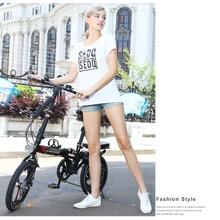 цена на New 14/16/20 Inch Wheel Carbon Steel Frame 6 Speed Women's Folding Bike Children Bicycle Outdoor Bmx Soft-tail Bicicleta