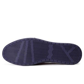 Misalwa Männer Casual Oxford Schuhe Atmungsaktive Flache Mode Turnschuhe Männlich Schwarz Braun Blau Leder Lace Up Klassische Wohnungen Freies Schiff