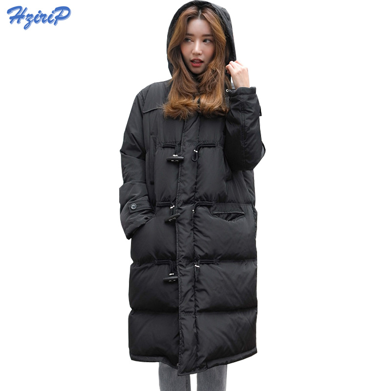 HziriP 2017 New Winter Jacket Women OL Style Thick Warm Long Jackets Ladies Basic Coat Jaqueta Feminina Cotton-padded Parkas qazxsw 2017 new winter cotton coat women padded jacket hooded long parkas for girl thick warm winter coat jaqueta feminina hb274