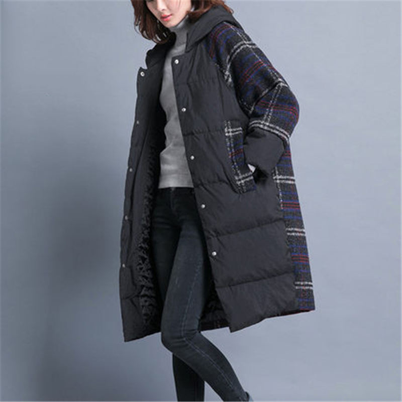 Winter Cotton Clothing Women long section Korean 2018 New Loose Casual Cotton Padded Large Size   Parka   Jacket Winter Coats Hooded