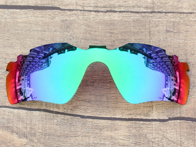Emerald Green Mirror Polarized Replacement Lenses For Radar Path Vented Sunglasses Frame 100% UVA & UVB Protection