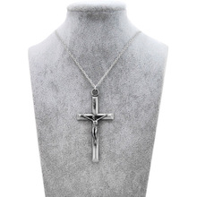 Original New Cross Jesus Choker Necklace Women Vintage Silver INRI Crucifix Prayer Chain Necklace Men Christian Jewelry Gift brand new vintage christian holy bible necklaces pendants for women retro gold jesus necklace men cross prayer jewelry gift