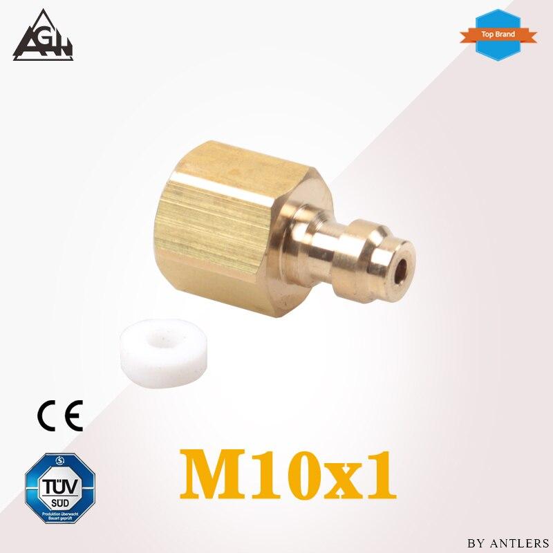 M10x1 Thread Air Pcp Hand Pump Compressor 8mm Filling  Paintball Airsoft Air Gun PCP Male Quick Disconnect Adapter