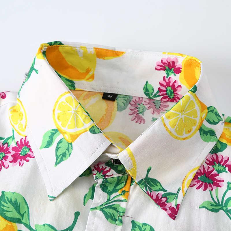 3D фруктовый принт с длинным рукавом рубашка мужская 2018 брендовая Новая повседневная мужская s Мужская классическая рубашка Клубная вечеринка выпускная рубашка Мужская Camisas Para Hombre 3XL