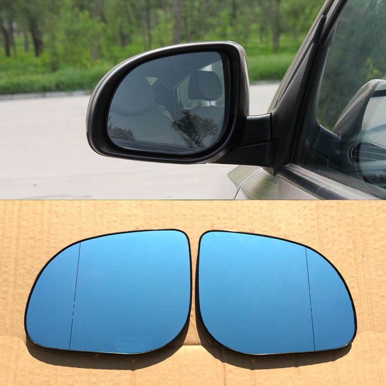 Savanini 2pcs New Power Heated w/Turn Signal Side View Mirror Blue Glasses For Hyundai Verna