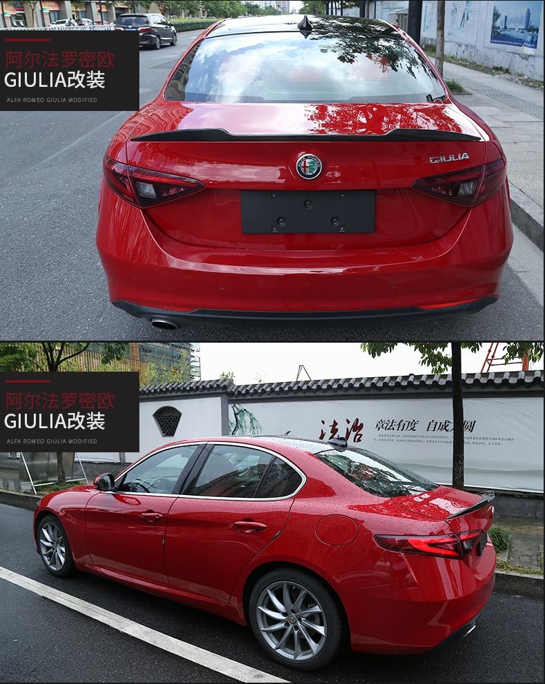 Fit For Alfa Romeo Giulia Carbon Fiber Rear Spoiler Rear Wing In