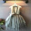 Niños Niñas Vestidos de Fiesta de Verano 2016 Nuevos Niños Irregular Niño Elsa Anna Cenicienta Princesa Dress for Girls