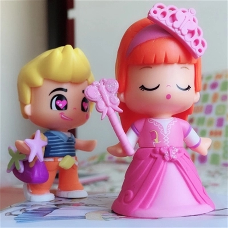 High Quality 1-15Pcs/Lot Lovely Boneca Pinypon Scented Dolls Toys Detachable Kids Action Toy Figures Fashion Girl Doll Toys