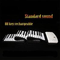 Soach Новый Портативный 88 клавиш Гибкая Roll Up Пианино USB Электронные органы клавиатура рука рулон Пианино аккумуляторная Стандартный звук