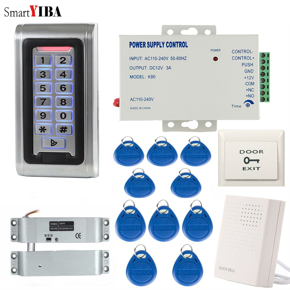 SmartYIBA Keypad RFID 125khz Access Control System Proximity Card Standalone 2000 Users Door Lock Control System Power SupplySmartYIBA Keypad RFID 125khz Access Control System Proximity Card Standalone 2000 Users Door Lock Control System Power Supply