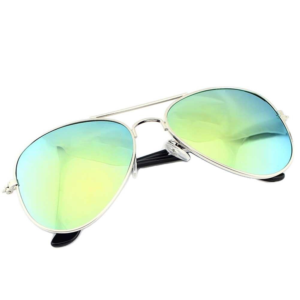 2017 Kinder Kühlen Spiegel Reflektierende Metallrahmen Sonnenbrille Kinder Uv400 Gläser Clear-Cut-Textur