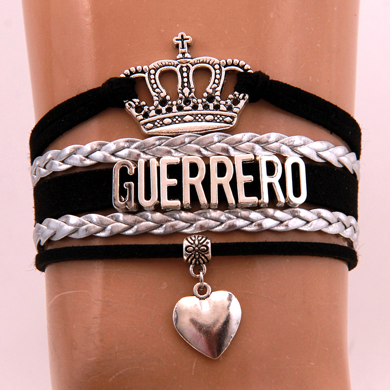 Chain & Link Bracelets Temperate Ncrhgl Infinity Love Guerrero Bracelet Bangles Heart Charm Braided Leather Bracelets Crown Jewelry For Women Men Drop Shipping Bracelets & Bangles