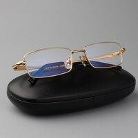 Pure Titanium Men S Full Rim Eyeglasses Light Glasses Frame Prescription Glasses YASHILU 9867 4 Colors