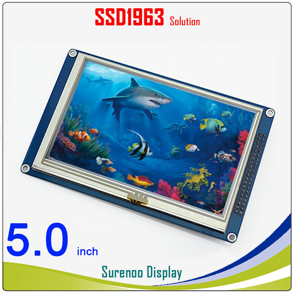 5.0 5 inch 800*480 TFT Touch LCD Module Display Screen Panel with PCB Adapter Build in SSD1963 Controller for STM32/51/AVR
