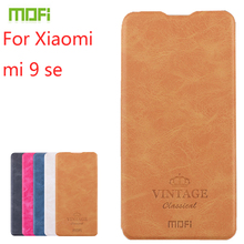 For Xiaomi mi 9 se Case Mofi Flip Leather Stand High Quality PU Cover