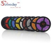 Strieday-câble électrique Flexible en Silicone, 10 mètres, 18 AWG, 150/0, 08ts, diamètre externe de 2.8mm, conducteur de fil électrique à monter soi-même