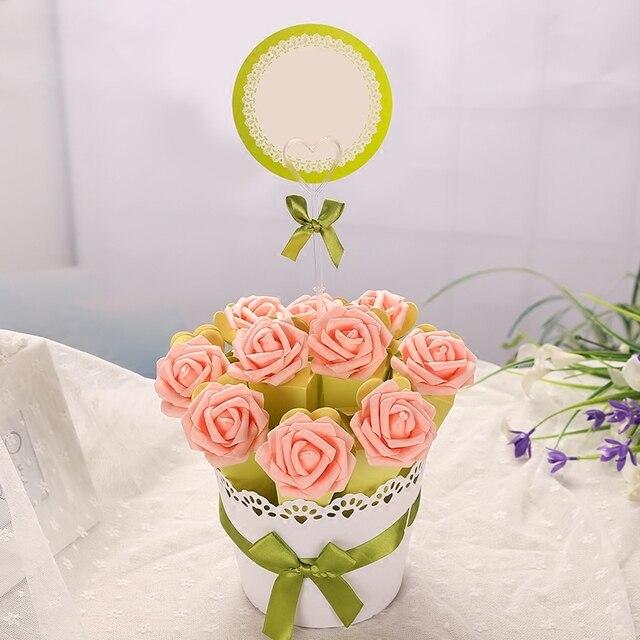 4 Satze Eis Rose Blume Candy Boxen Korb Blumentopf Design Mit