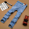 Summer Fashion Sulee Jeans Men Famous Brand Distressed Jeans For Men Quality Straight Classic Blue Jeans Thin Cool Plus Size 40