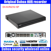 Original Dahua NVR 16CH 16PoE Ports DH-NVR4216-16P Support up to 5MP Recording Onvif Network Video Recorder HDMI/VGA NVR4216-16P