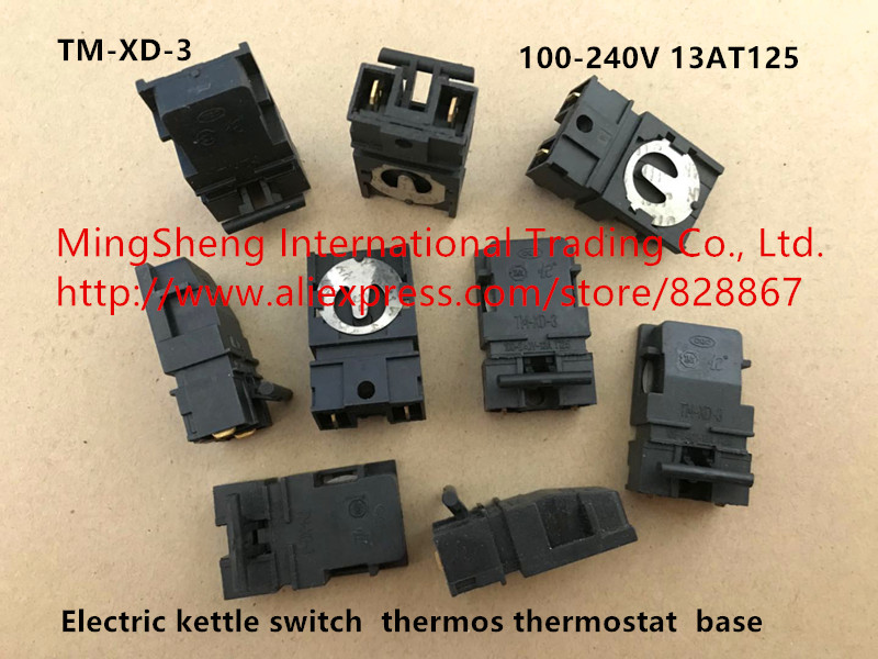 Original new 100 electric kettle accessories steam switch thermostat TM XD 3 KSD368 A 100 240V