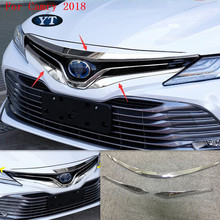 Car front grille trim cover hood for Toyota Camry 2018,ABS chrome, 3pcs/lot, car acccessories