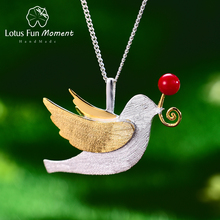 Lotus Fun Moment Real 925 Sterling Silver 2018 Creative Pearl Pendant Fashion Jewelry Gold Pendant without Necklace for Women