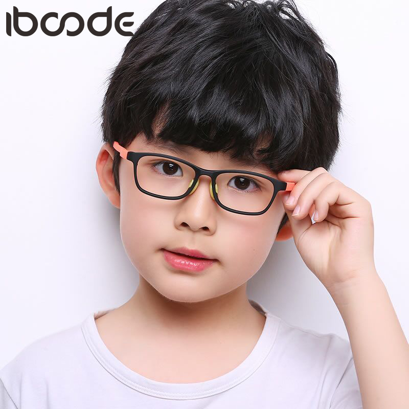 Iboode Children Spectacle Eyeglasses Frames Boy Girl Kids Flexible Lightweight Soft Glasses Frames For Prescription Glasses TR90