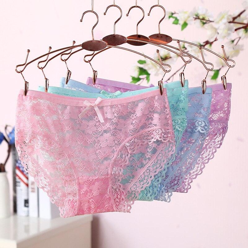 1Pcs Womens Panties New Fashion 2018 Transparent Underwear Women Lace Soft Briefs Sexy Lingerie Low Waist Hot Sale