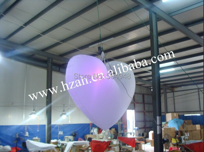 Color Lighting Inflatable Heart for Party Decoration inflatable lighting star for party decoration