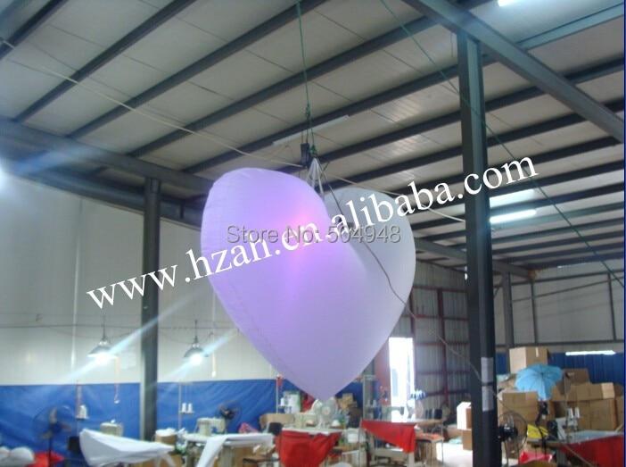 Color inflable corazón inflable para decoración de fiesta