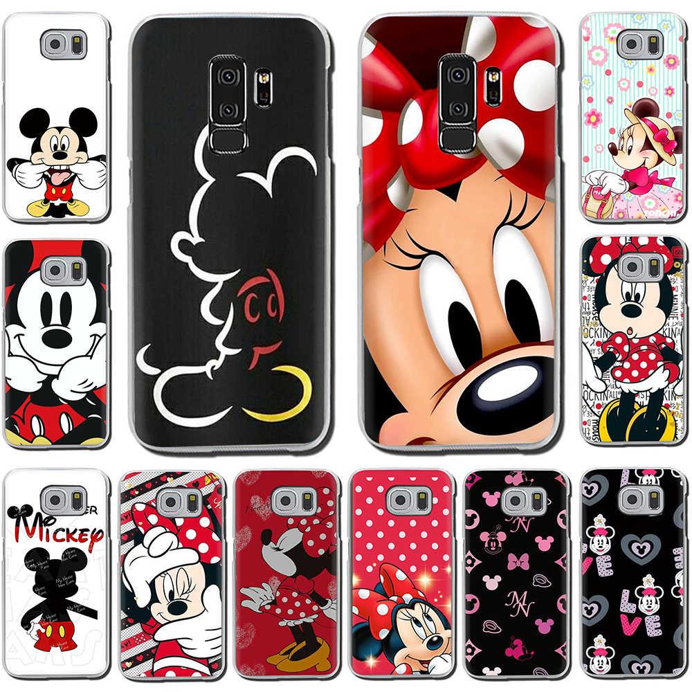 น่ารัก Mickey Minnie เมาส์ Hard สำหรับ Samsung Galaxy S6 7 Edge S8 9 10 Plus M10 20 30