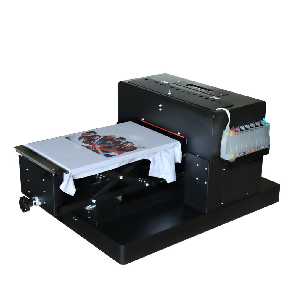 Clothes Printer A3 Size DTG Printing Machine Dark Light Color Flatbed Printer for TShirt Phone Case With DX5 Printhead 8 Color